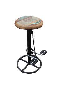 SIT Möbel Barhocker im Fahrradstil   mit Kette und Pedalen   Gestell Metall   Sitz Holz   antik-bunt   B 40 x T 40 x H 83 cm   01054-12   Serie THIS & THAT