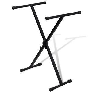 vidaXL Einstellbare Einstrebige Versteift Keyboardständer X-Rahmen
