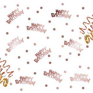 Oblique Unique Konfetti Happy Birthday Geburtstag Jubiläum roségold + Punkte +300 Stk