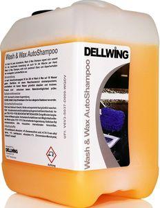 DELLWING Wash & Wax Autoshampoo mit Wachs 5 L - Hochprofessionelles Shampoo für Ihren Wagen - Verdünnbar bis 1:200 - Schöner, tiefer Glanz mit Abperlverhalten
