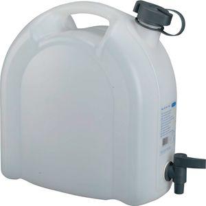 Pressol Wasserkanister 10L weiß stapelbar Polyethylen mit Ablasshahn - 21173