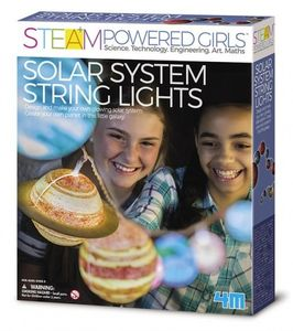 STEAM Powered Girls - Solar System String Lights - Lichterkette 4M Experimente