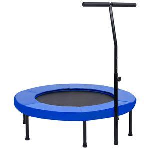 Fitness Trampolin mit Griff und Sicherheitspolster 102 cm