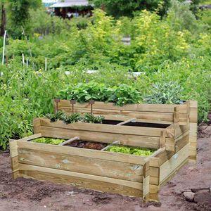 Hochbeet Hugo 120x100x54cm Garten Treppe Pflanzen Gemüse  Pflanzbeet