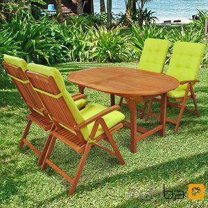 Gartenmöbel Set 9-teilig Sun Shine mit Auflagen Relax Grün