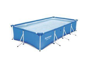 Bestway Frame Pool Steel Pro 400 x 211 x 81 cm - 56405 - 5.700 L - Garten Aufstellpool mit stabilem Stahlrahmen, Swimmingpool zum Aufstellen - Einfacher Aufbau