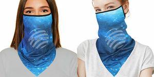 GKA tolles Mundschutztuch mit Ohrschlaufen Galaxy blau Sterne Mundschutz Maske Tuch Gesichtsschutz Tuch Multifunktionstuch Schal Bandana