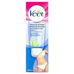 Veet Haarentfernungs-Creme Bikini & Achseln für sensible Haut glatte Haut 100ml