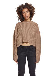 Urban Classics Damen Ladies Wide Oversize Sweater TB2359, color:taupe, size:XL