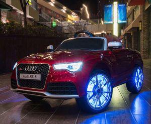 Kinderauto XXL Audi RS 5 - Elektroauto Kinderfahrzeug elektronisch - LED, Leder, Fernbedienung, Akku - Rot-Metallic, Cabrio Verdeck