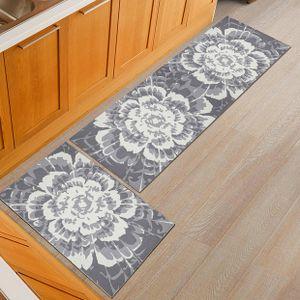 Küchenläufer Waschbar rutschfest Küchenmatte Küchenteppich Marokkanisches Muster Teppich Läufer Küche Fußmatte Badematten
