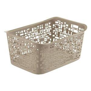 Rotho Urban  Kunstoff Plastikkorb / Aufbewahrungsbox, 5 L, 28 x 20.4 x 13.2cm, Cappuccino, EF250250