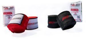 Boxbandagen 4m von ActiveVikings mit Klettverschluss - Ideal für jede Kampfsportart | Boxen Kickboxen Jiu Jitsu Muay-Thai MMA (Farbe Schwarz)