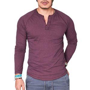 T-Shirt Langarm Atmungsaktive Baumwolle O-Ausschnitt Bluse für Dating