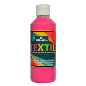 BEJOL Stoffmalfarbe für helle & dunkle Stoffe, pink / rose tyrien 250ml