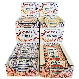 XXL-Vorratspack 80 Frucht- und Nussriegel Giddy Vegan Glutenfrei Ohne Zuckerzusatz