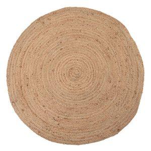 Teppich INSA Jute geflochten runder Juteteppich Vorleger rund natur Jute Ø 90 cm Natur