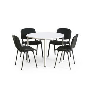 Tisch-Stuhl-Kombination mit schwarzen Stuhlgestellen - Taurotrade