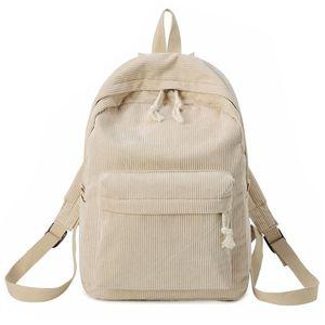 Freizeit Tasche Reiserucksack Preppy Style Soft Fabric Cord Teenager Teenager Outdoor Handtasche