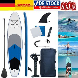 SUP Aufblasbares Stand Up Paddle Board Set 320x76x15 cm Inclusive Verstellbares Paddel, Rücksack, Luftpumpe und Zubehör,  bis 150kg SUP Board Paddling Board Paddelboard Surfboard