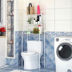 Toilettenregal  Badezimmerregal Waschmaschinenregal Allzweck Regal weiß  165*55*27cm