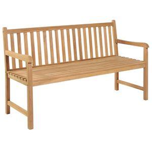 Gartenbank Parkbank Bank | Sitzbank Holzbank Gartenmöbel Sitzkomfort 150 cm Teak | 6610