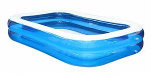 Familien Pool Ttransparent - Blau ca. 262x175x50cm