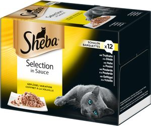 Sheba Schale 12x 85g - Selection in Sauce
