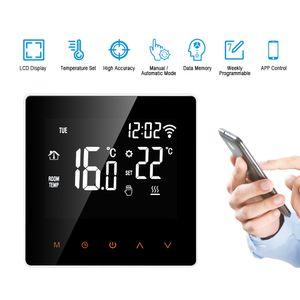 Thermostat  WiFi Smart Raum Thermostat Fußbodenheizung Programmierbarer, LCD digitale tempereraturregler display touch screen, , APP Steuerung Wöchentliche Zirkulation Programmierbare mit Internen Sensor und Bodensensor