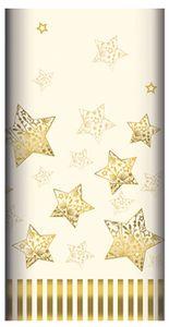 """PAPSTAR Weihnachts-Tischdecke """"Sparkling Stars"""" creme (B)1,80 x (L)1,20 m"""