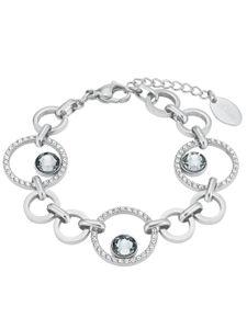 s.Oliver 2024268 Damen Armband Edelstahl Silber Weiß 20 cm