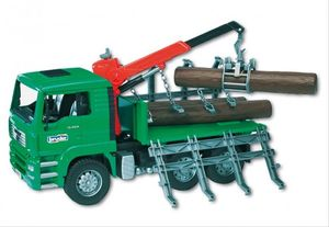 bruder MAN Holztransport-LKW mit Ladung L 25,5 x H 43 x T 18,5 cm, Maßstab 1:16