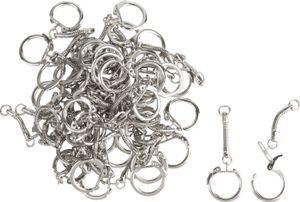 50 Schlüsselringe mit Kette, VBS Großhandelspackung