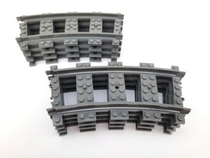 Lego© Steine 8 Lego© City©-Kurven / gebogene Schienen RC *neu und unbespielt*