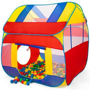 KIDUKU Spielzelt mit 300 Bällen undTasche Kinderzelt Bällebad Pop Up Babyzelt