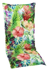 GO-DE Textil, Sesselauflage hoch, Blume/Blätter bunt, 2944-01