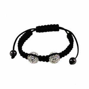 Shamballa Armband - Makramee - Kristalle & Stopper