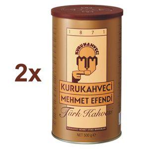 Türkischer Kaffee Kurukahveci Mehmet Efendi Türk Kahvesi Fein Gemahlen 2x 500g