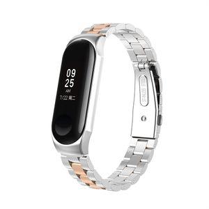 Fš¹r Xiaomi Mi Band 3 Luxus Mode Edelstahl Armband Metall Armband