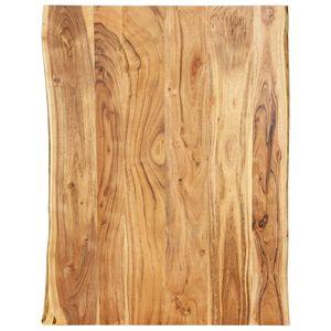 Tischplatte Massivholz Akazie 80 x 60 x 2,5 cm