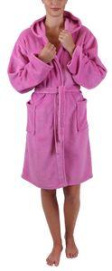"Betz Kinder Bademantel ""STYLE"" mit Kapuze  Kinderbademantel Farbe rosa  Größe - 140"