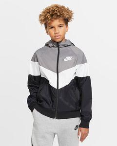 Nike B Nsw Wr Jkt Hd Gx Qs Gunsmoke/Summit White/Blac M