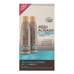 Kativa Salt-Free Straightening Post Treatment Stärkungspflege zur Haarglättung mit Keratin 250 ml + 250 ml