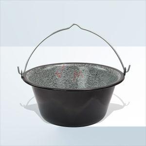 10l Gulaschkessel Metall emailliert 10 Liter Kessel Gulasch Topf