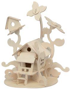"Marabu KiDS 3D Puzzle ""Feenhaus"" 43 Teile Holzbausatz"
