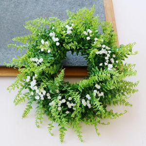 Künstliche Gypsophila Türkranz Wandkranz Dekokranz Weihnachtskranz Adventskranz, aus Plastik