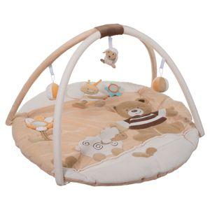 Bieco Krabbeldecke mit Spielbogen für Babys, Bubu Bär   ∅ ca. 90 cm   süße Mobile Spieldecke Baby   Activity Center Baby Gym   Spielmatte Baby   Spielteppich Mädchen & Junge   Erlebnisdecke