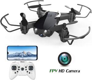 EACHINE E61HW Mini Drohne mit Kamera Live Übertragung für Kinder Anfänger WiFi FPV ,Kopflos Modus,3D Flip,Höchenhaltung, RC Quadrocopter, Anfänger ,Schwarz