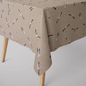 SCHÖNER LEBEN. Tischdecke Möwen natur verschiedene Größen, Tischdecken Größe:130x200cm