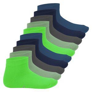 Footstar Kinder Kurzschaft Socken (10 Paar) - Sneak it! - Cool Colours 31-34